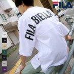 [SALE] Tシャツ メンズ おしゃれ 半袖 カットソー クルーネック バックプリント ロゴ ビッグシルエット オーバーサイズ FILA フィラ ファッション (fh7721) #